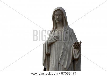 MEDUGORJE, BOSNIA AND HERZEGOVINA - FEBRUARY 19: Our Lady of Medugorje in Medugorje on February 19, 2011.