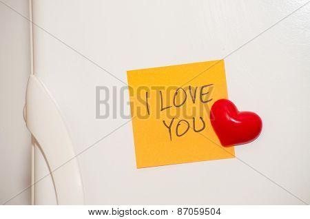Note with handwritten
