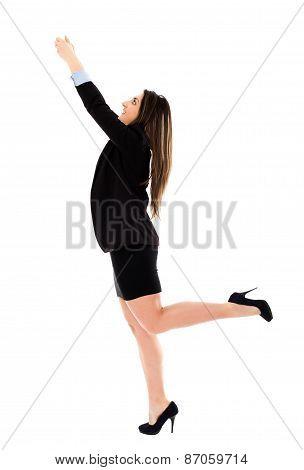 Ambitious Bisinesswoman Climbing