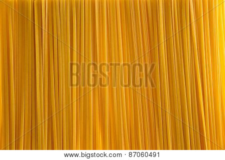 Full Frame Background Of Fettuccine Pasta