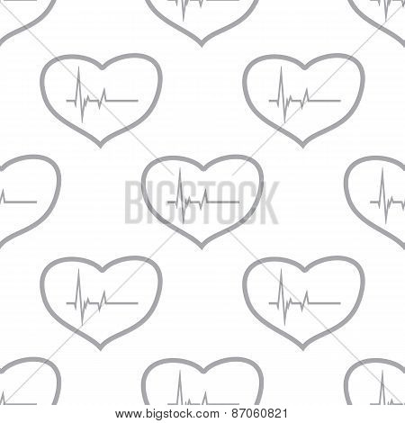 New Heartbeat seamless pattern