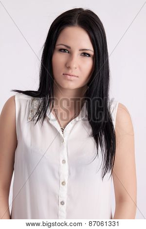 Young Long-haired Black-haired Woman