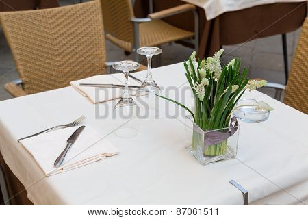 Table At A Restaurant In Venice