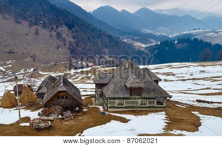Traditional Romanian House On Mountains