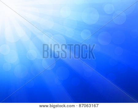 Blue Background With Sunrays
