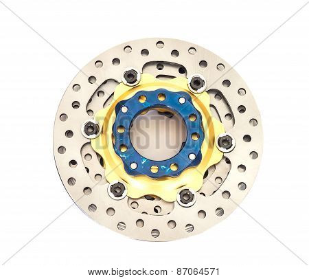 Isolated New Disc Brake For Motorcycle