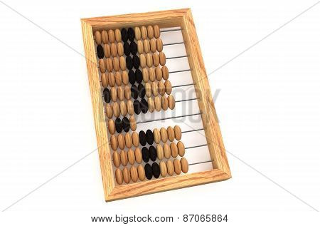 Wooden Russian Abacus With Beads