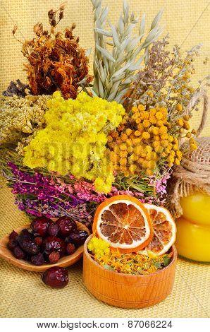 Medicinal Herbs With Honey