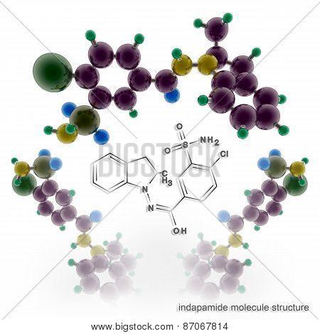 Indapamide Molecule Structure