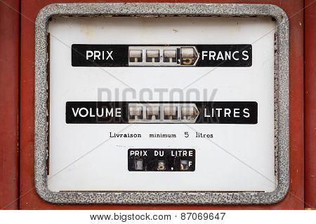 Vintage Gasoline Meter Fuel