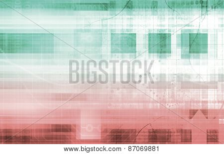 Business Intelligence in the Corporate World Art background