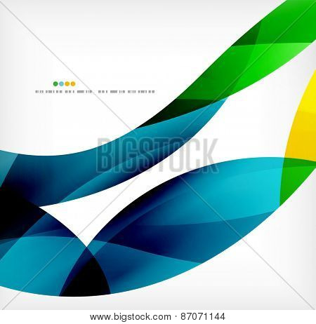 Business wave corporate background, flyer, brochure design template