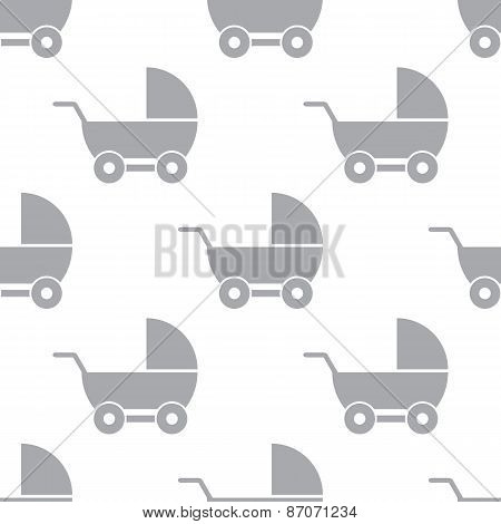 New Baby carriage seamless pattern