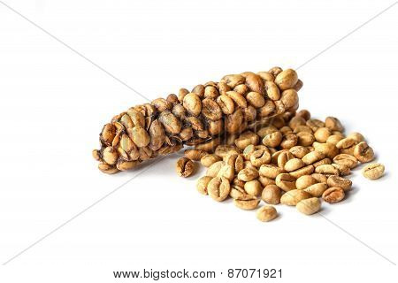Kopi Luwak Or Civet Coffee Isolated On White Background