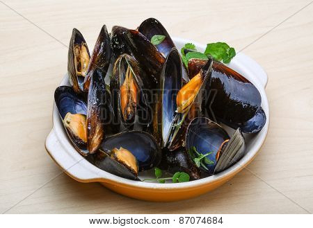Boiled Mussels