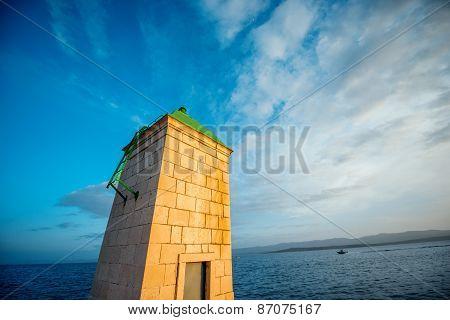 Lighthouse in Bol city, Croatia
