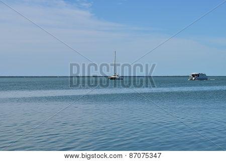 Sailboat and Fishing Boat