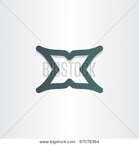 Letter X Character Abstract Icon Design