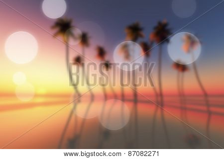Tropical Sunset Blurred