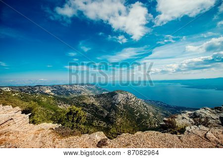 View from Vidova Gora on Brac island