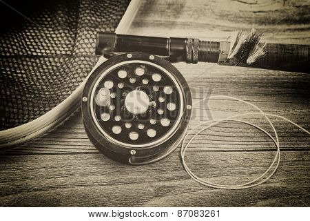 Vintage Traditional Trout Fishing Equipment