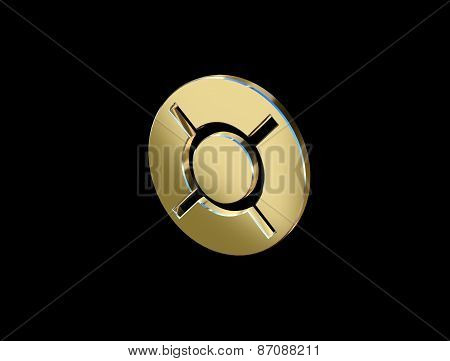 Image Currency Currency Symbol In The Form Of Coins On A Black Background