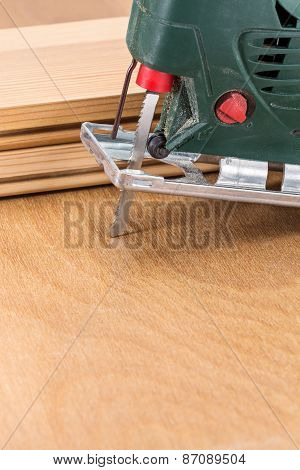 Close Up Electric Jigsaw Tool