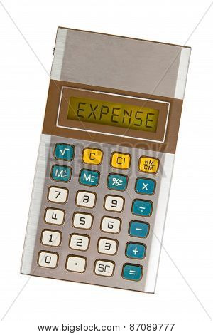 Old Calculator - Expenses