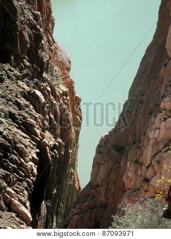 Rockscape In Gorge In El Chorro