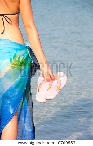 Woman With Flip Flops