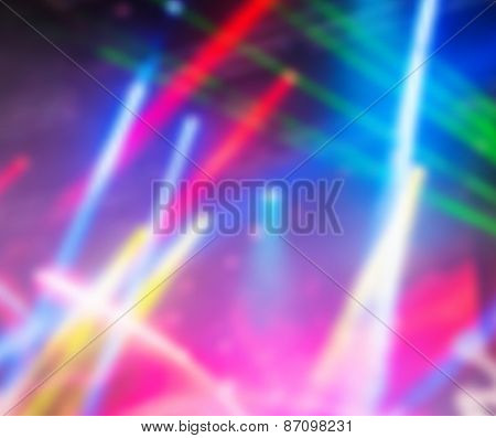 Dramatic multicolored lights vector background