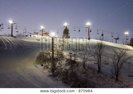 Night Skiing Fun