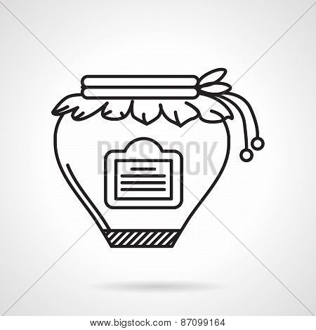 Jam jar black line vector icon