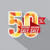 picture of 50s  - 50 Percent Discount Vector Illustration - JPG