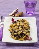 pic of chicory  - pasta with red chicory and nuts - JPG
