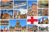 pic of city hall  - Manchester UK travel photos collage - JPG