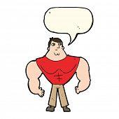 image of body builder  - cartoon body builder - JPG