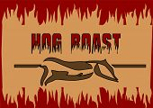 picture of spit-roast  - hog roast - JPG