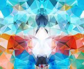 image of color geometric shape  - Abstract geometric background colorful - JPG