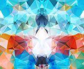 stock photo of geometric shape  - Abstract geometric background colorful - JPG