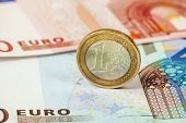 pic of money prize  - Money euro coin and banknotes - JPG