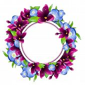 image of forget me not  - Illustration of Spring Wet Lilac and Forget - JPG