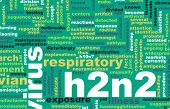 foto of avian flu  - H2N2 Concept as a Medical Research Topic background - JPG
