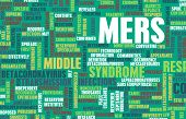 foto of respiratory disease  - MERS or Middle East Respiratory Syndrome background - JPG