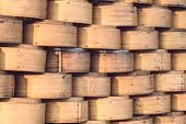 pic of chinese food  - Stack of Chinese Bamboo Steamer for Steaming Chinese Food - JPG