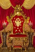 stock photo of throne  - Smart royal throne - JPG