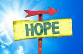 stock photo of hope  - Hope sign with sky background - JPG