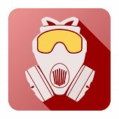 picture of respirator  - Flat icon of gas mask respirator - JPG