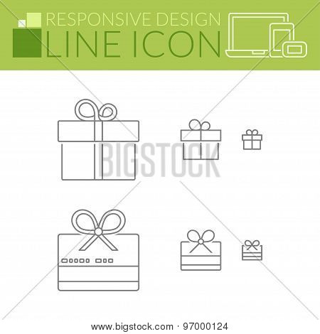 Line Icons. Responsive Design. Gift And Girfcard.