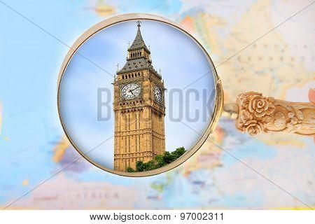 Looking In On Big Ben, London England